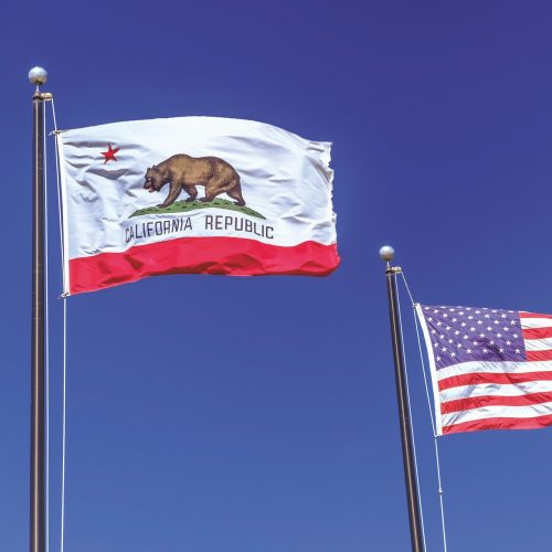 CA and US flag